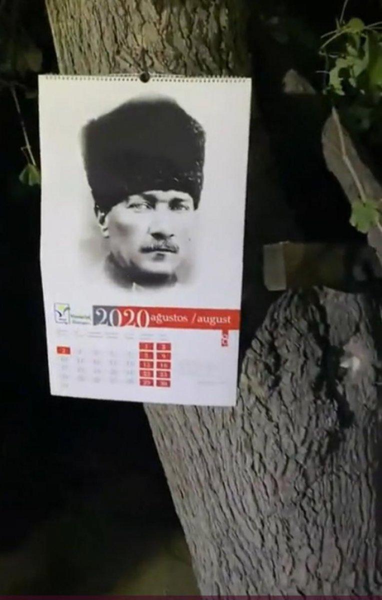 Manavgat orman yangınında Atatürk posteri yanmadı diyorlar #1