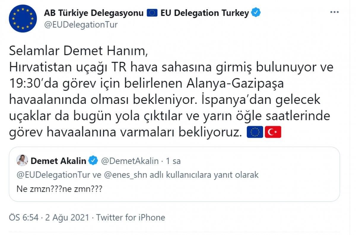 AB Türkiye Delegasyonu, Demet Akalın ın sorusunu cevapsız bırakmadı #2