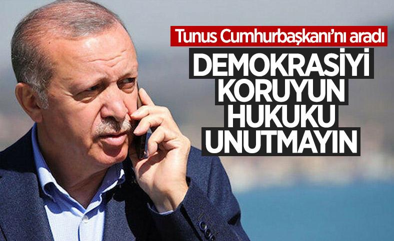Cumhurbaşkanı Erdoğan, Tunus Cumhurbaşkanı ile görüştü