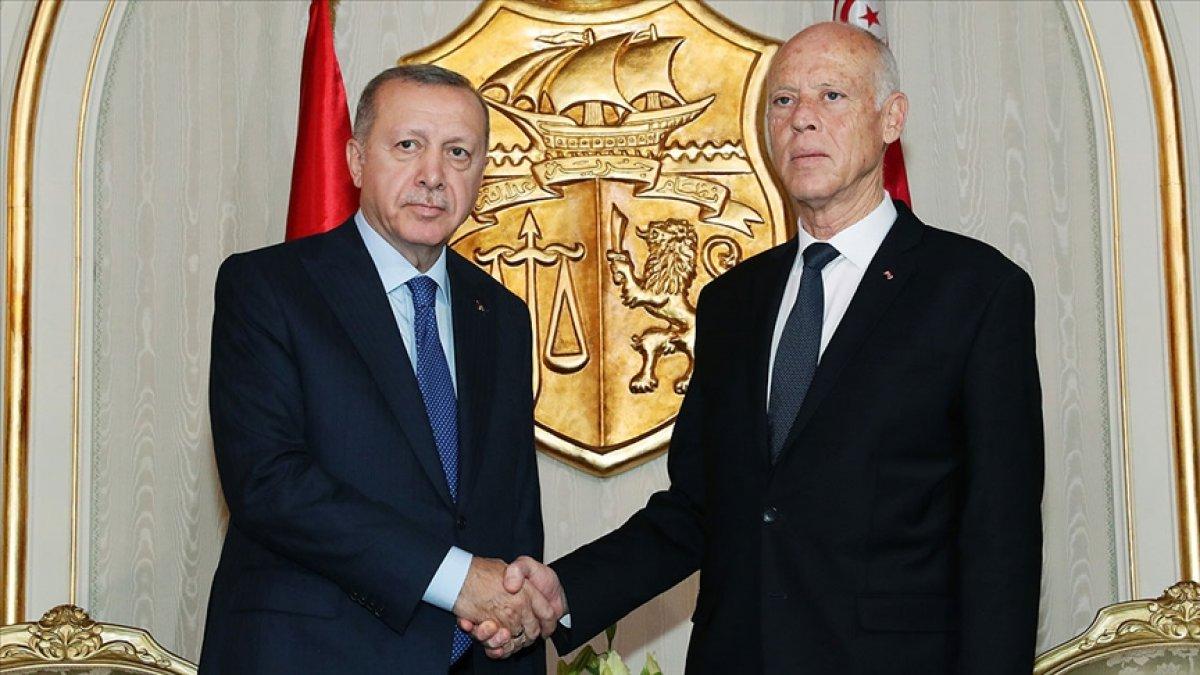 Cumhurbaşkanı Erdoğan, Tunus Cumhurbaşkanı ile görüştü #1