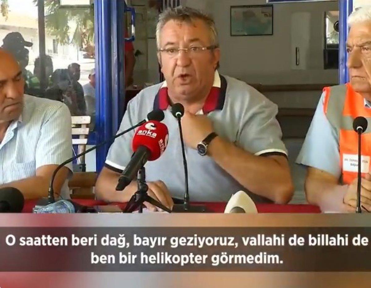Fahrettin Altun, yangına müdahale eden helikopterleri paylaştı #1