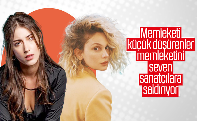 Şarkıcı Şehrazat, Farah Zeynep Abdullah ve Hazal Kaya'nın tepkisiyle karşılaştı