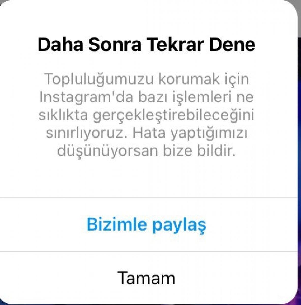 Instagram çöktü mü? Instagram  Daha sonra tekrar dene  hatası son dakika 2021 #1