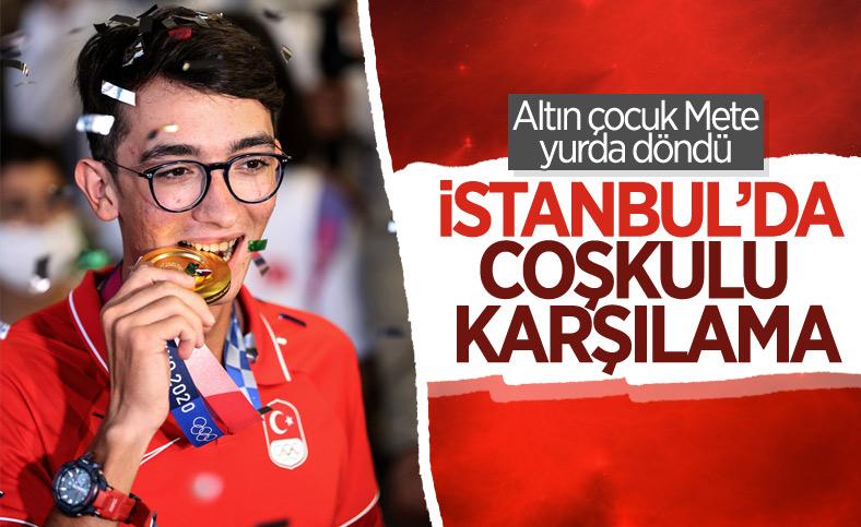 Olimpiyat şampiyonu Mete Gazoz İstanbul'da