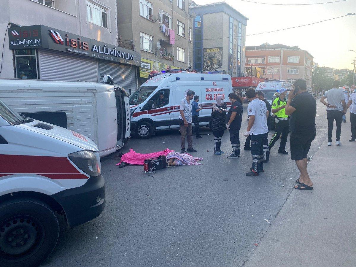 Ümraniye de servis ile ticari minibüs çarpıştı: 1 ölü, 5 yaralı #2