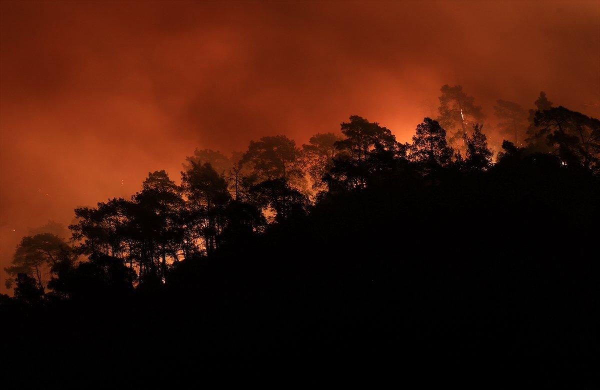Türkiye de orman yangınlarının devam ettiği bölgeler #1