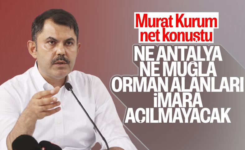 Murat Kurum:Yangında zarar gören konutlar yerine yapılacak