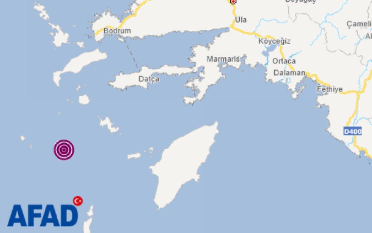 Datça da 5.0 büyüklüğünde deprem #1