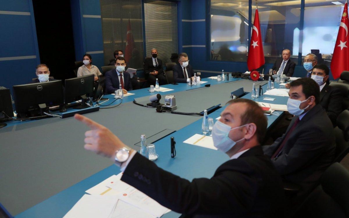 Cumhurbaşkanı Erdoğan, yangınlar hakkında bilgi aldı #3