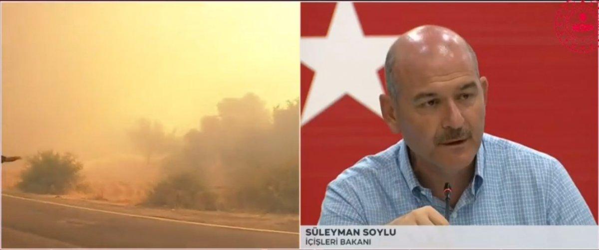 Süleyman Soylu dan orman yangınlarıyla ilgili açıklama #1