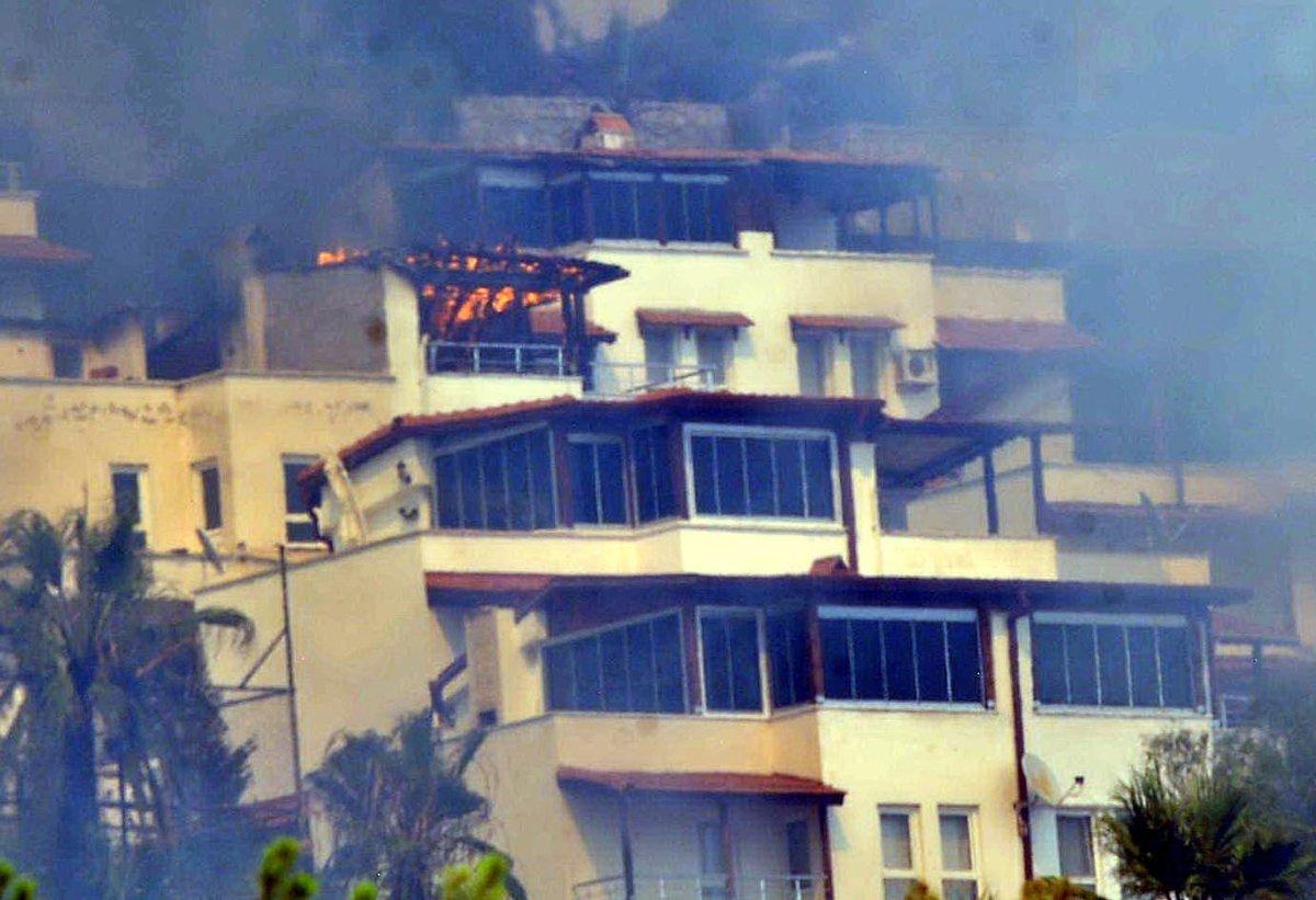 Muğla da yangın yazlık villalara sıçradı  #2