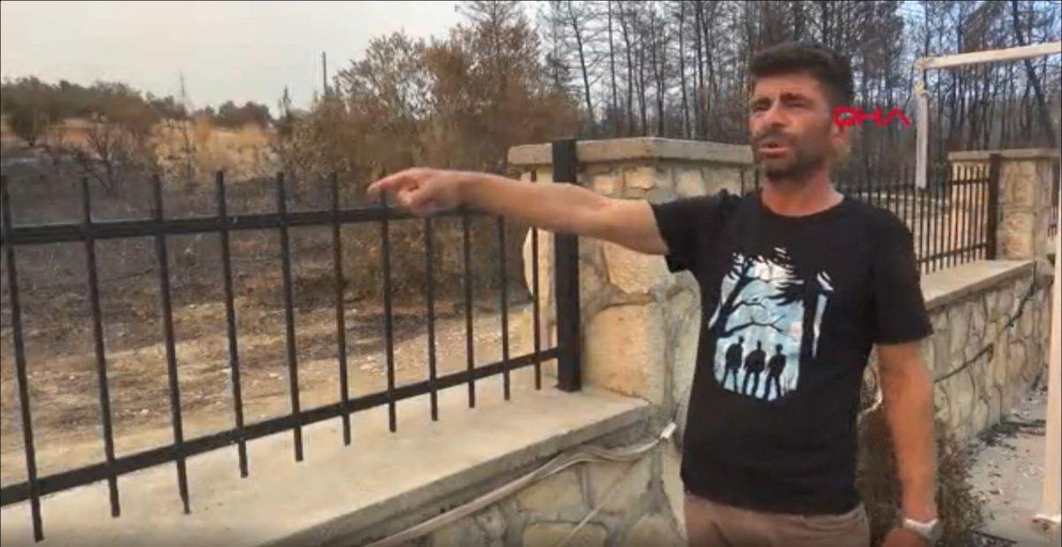 Antalya'da 6 kişilik aile, yangından kurtulmak için havuza sığındı #4