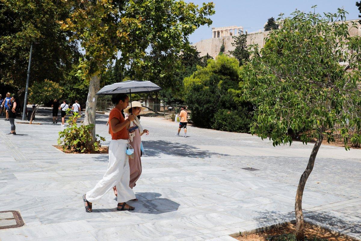 Yunanistan, aşırı sıcakların etkisi altında #1
