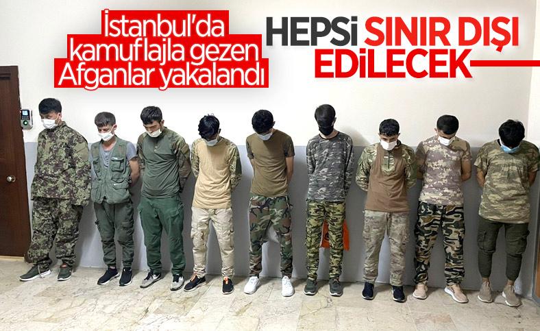 İstanbul'da kamuflajla gezen Afganlara gözaltı