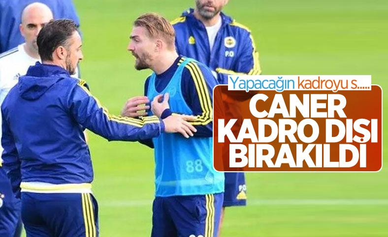 Fenerbahçe'de Sinan Gümüş ve Caner Erkin kadro dışı bırakıldı