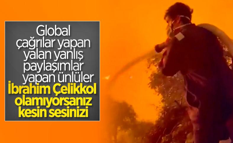 İbrahim Çelikkol, Marmaris'teki yangın söndürme çalışmalarına katıldı