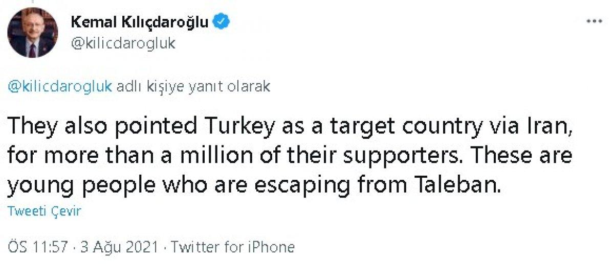Kılıçdaroğlu ndan Afgan göçmen paylaşımı #4
