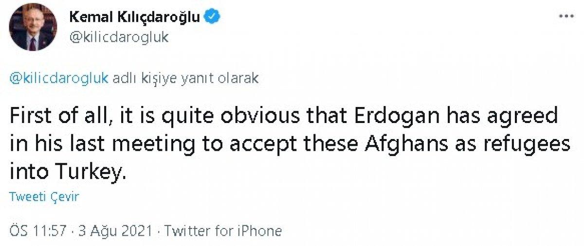 Kılıçdaroğlu ndan Afgan göçmen paylaşımı #5