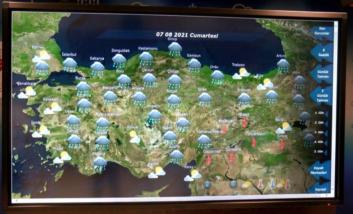 Meteoroloji den Antalya için yağış tahmini #1