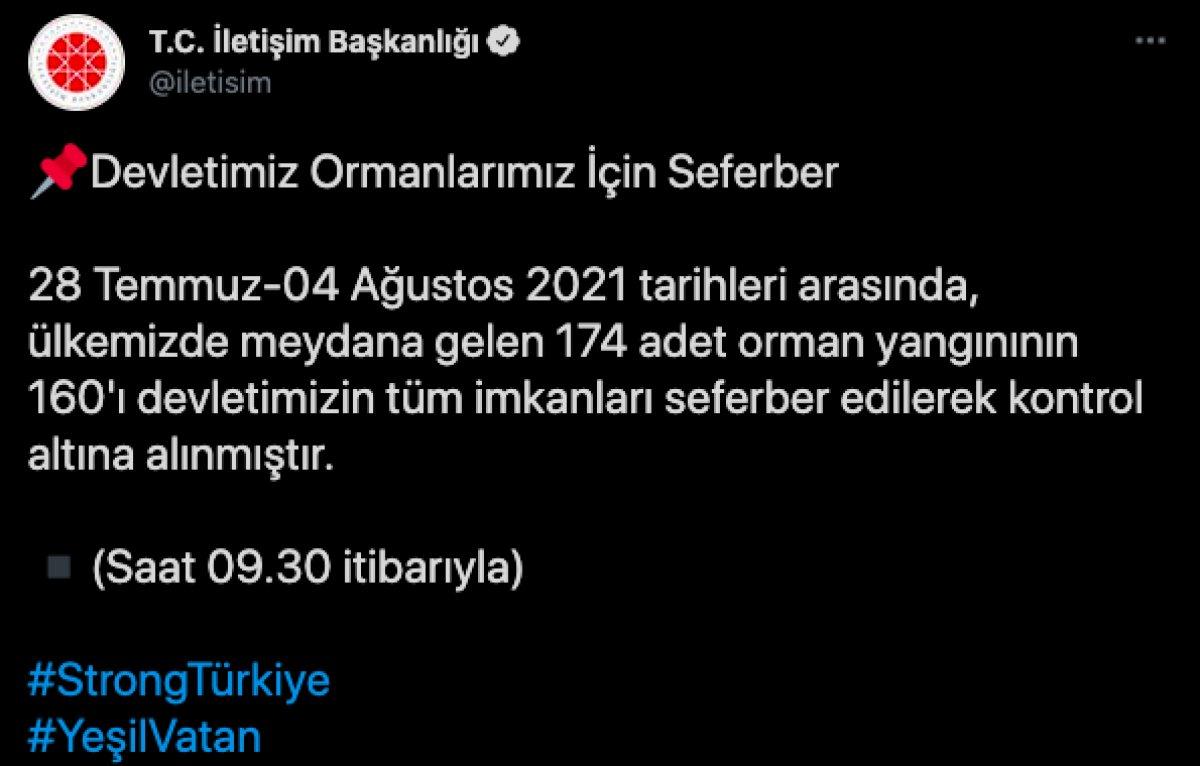 Türkiye de orman yangınlarının 8 inci gününde son durum #1