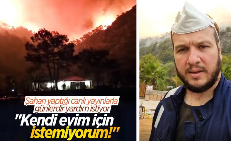 Orman yangını Şahan Gökbakar'ın evinin arkasına kadar geldi