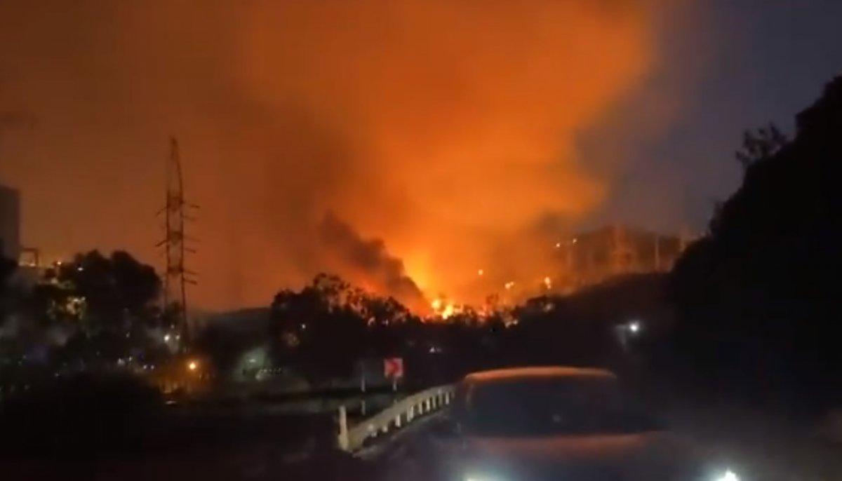 Milas taki yangın termik santrale ulaştı #1