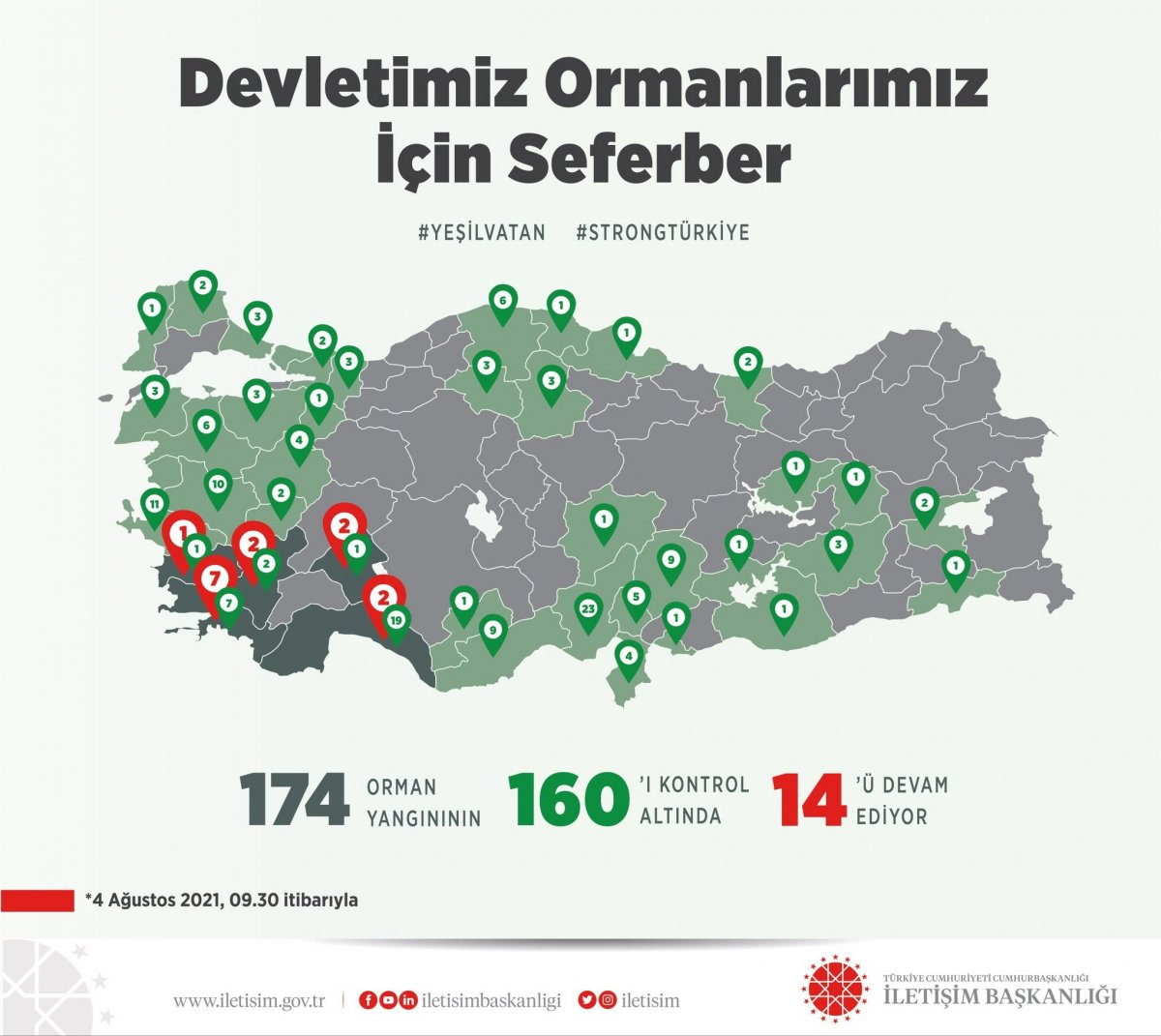Türkiye de orman yangınlarının 8 inci gününde son durum #2