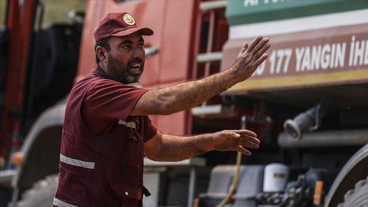 Antalya da  alev savaşçıları  yangını söndürmekte kararlı  #1