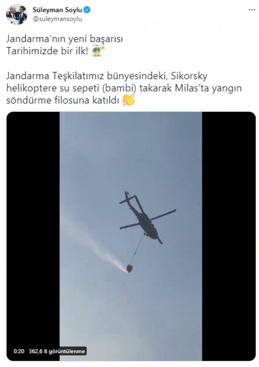 Sikorsky helikopter yangın söndürme filosuna katıldı #1