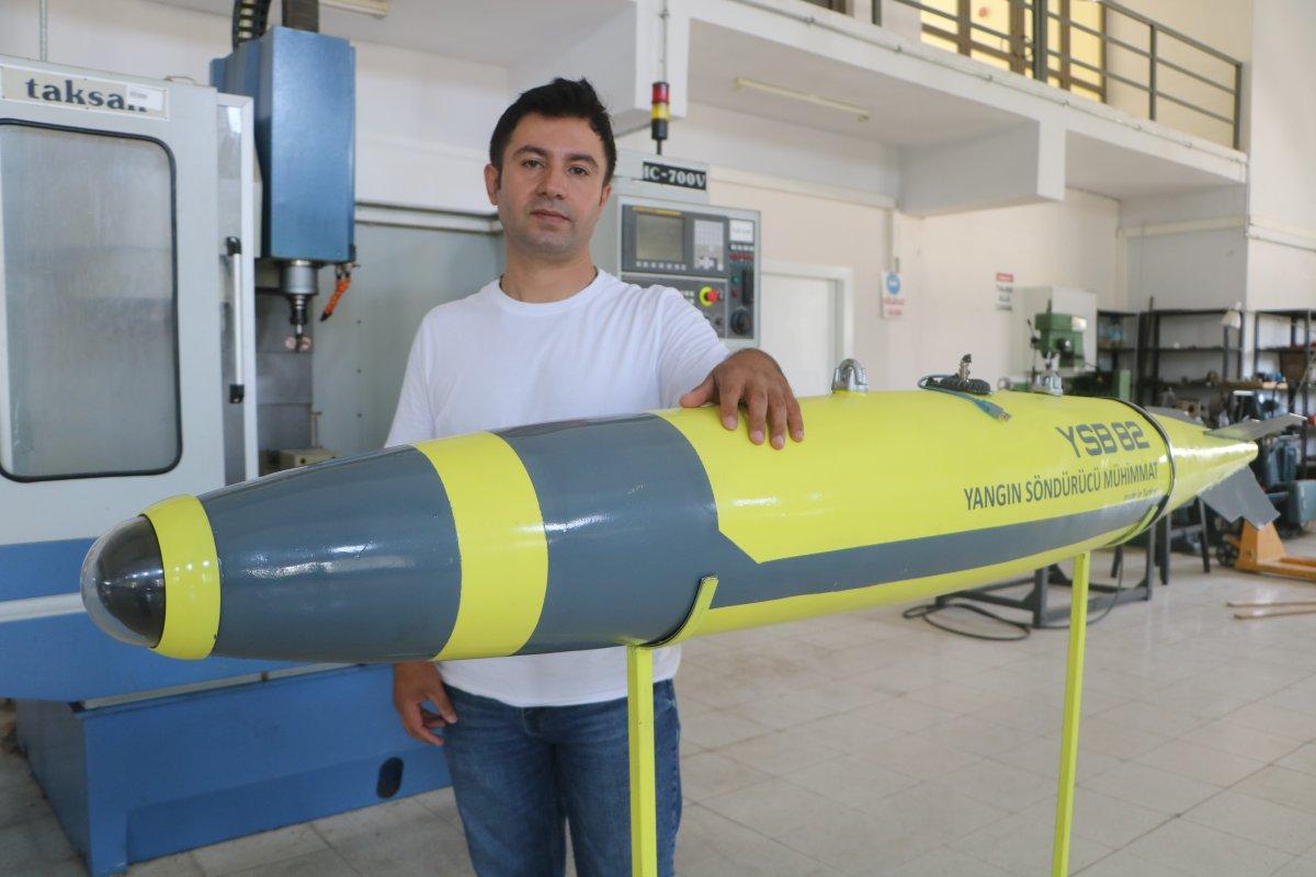 Malatya'da geliştirilen 'Yangın Söndürme Bombası' prototip üretim aşamasında #3