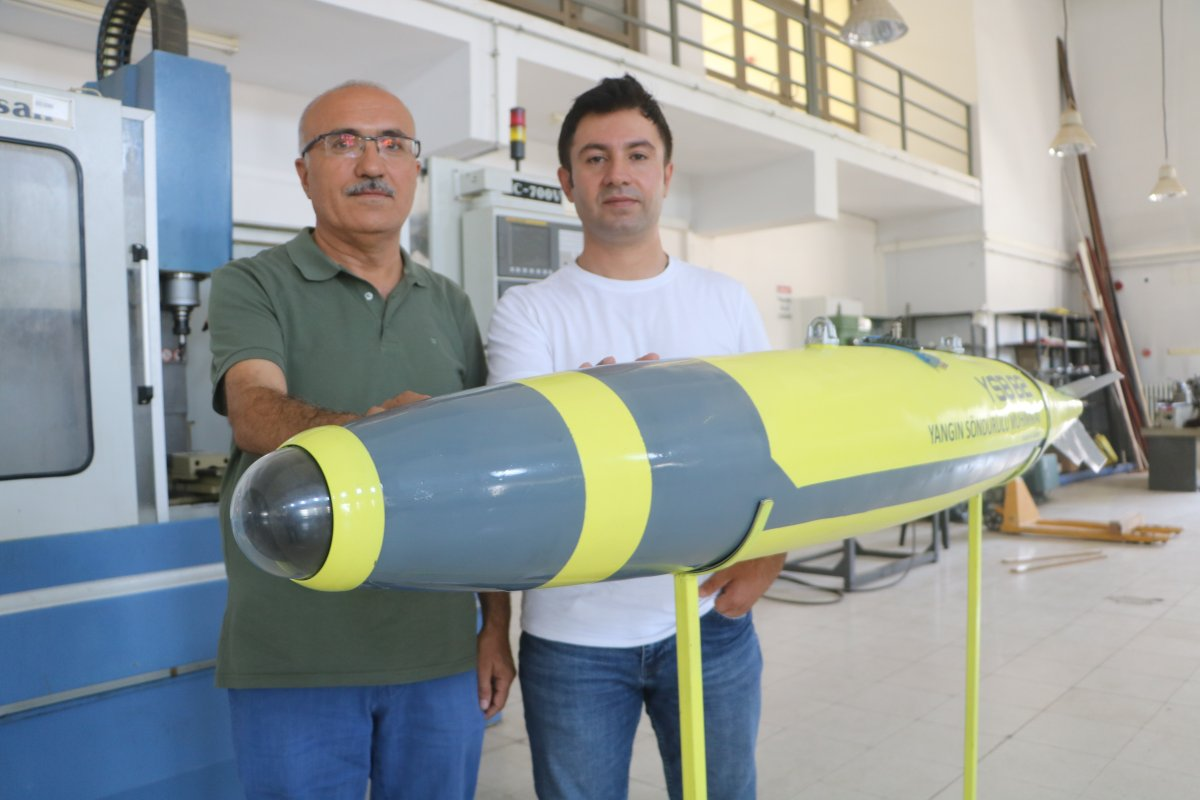 Malatya'da geliştirilen 'Yangın Söndürme Bombası' prototip üretim aşamasında #1