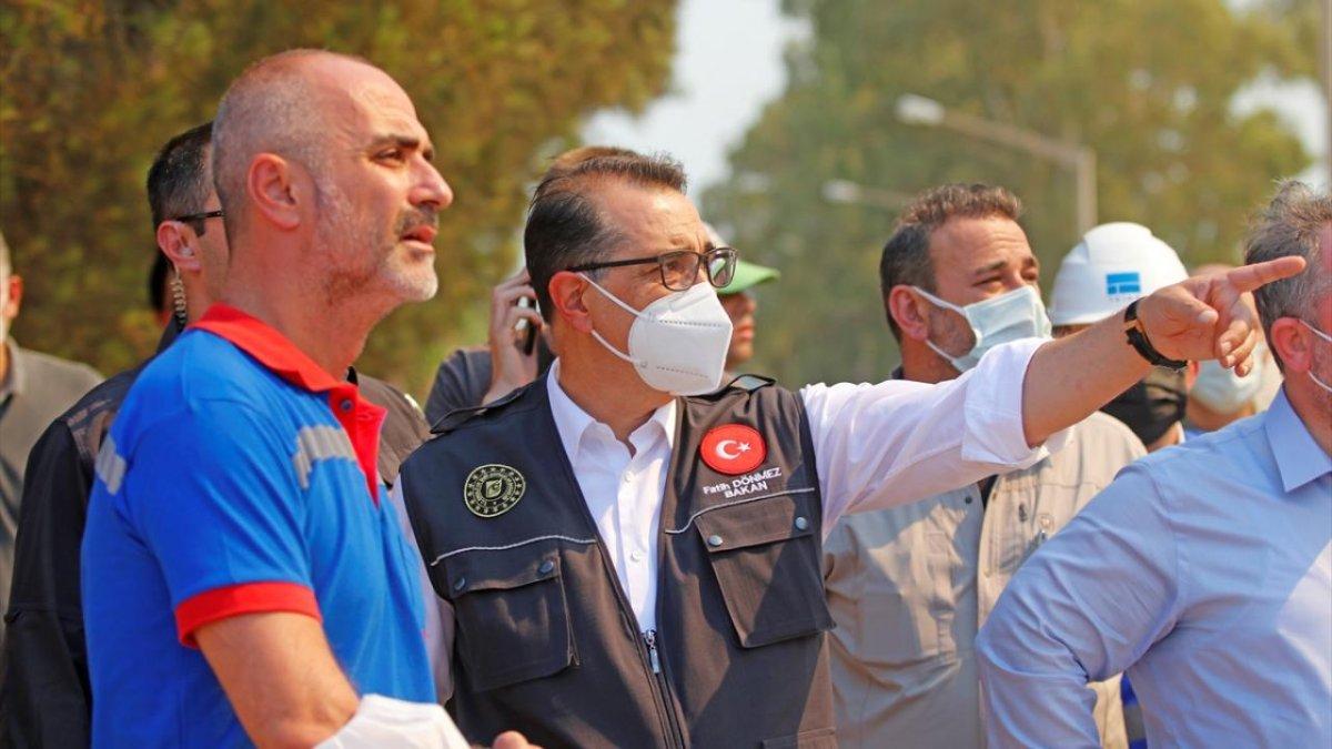 Fatih Dönmez: Santrali tehdit eden bir yangın söz konusu değil  #1