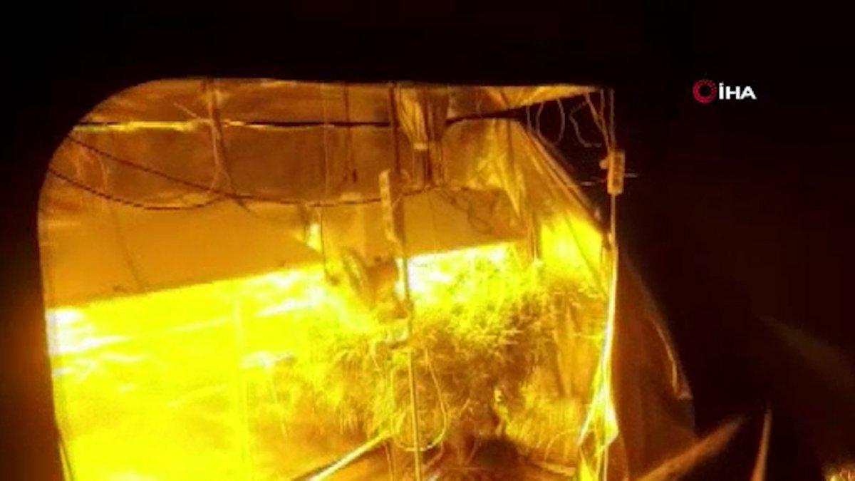 Ankara da evini uyuşturucu serasına çevirdi  #2