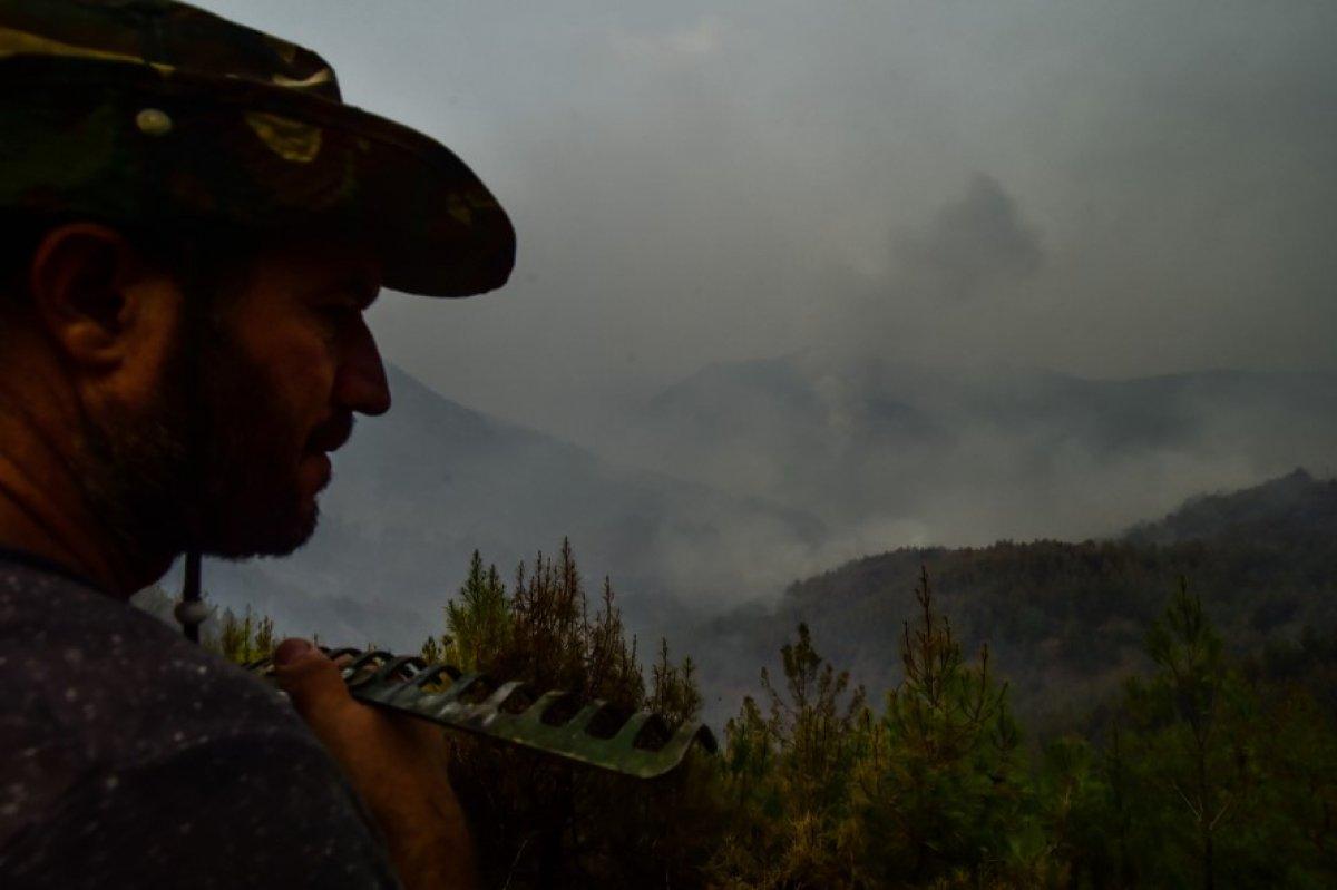 Muğla Köyceğiz de mahalleli yangını çaresizlikle izledi #4