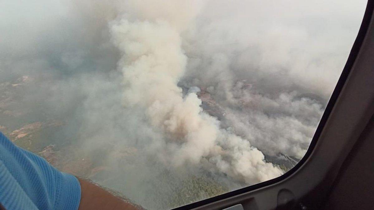 Yangın sonrası Muğla gökyüzünden böyle görüntülendi #3