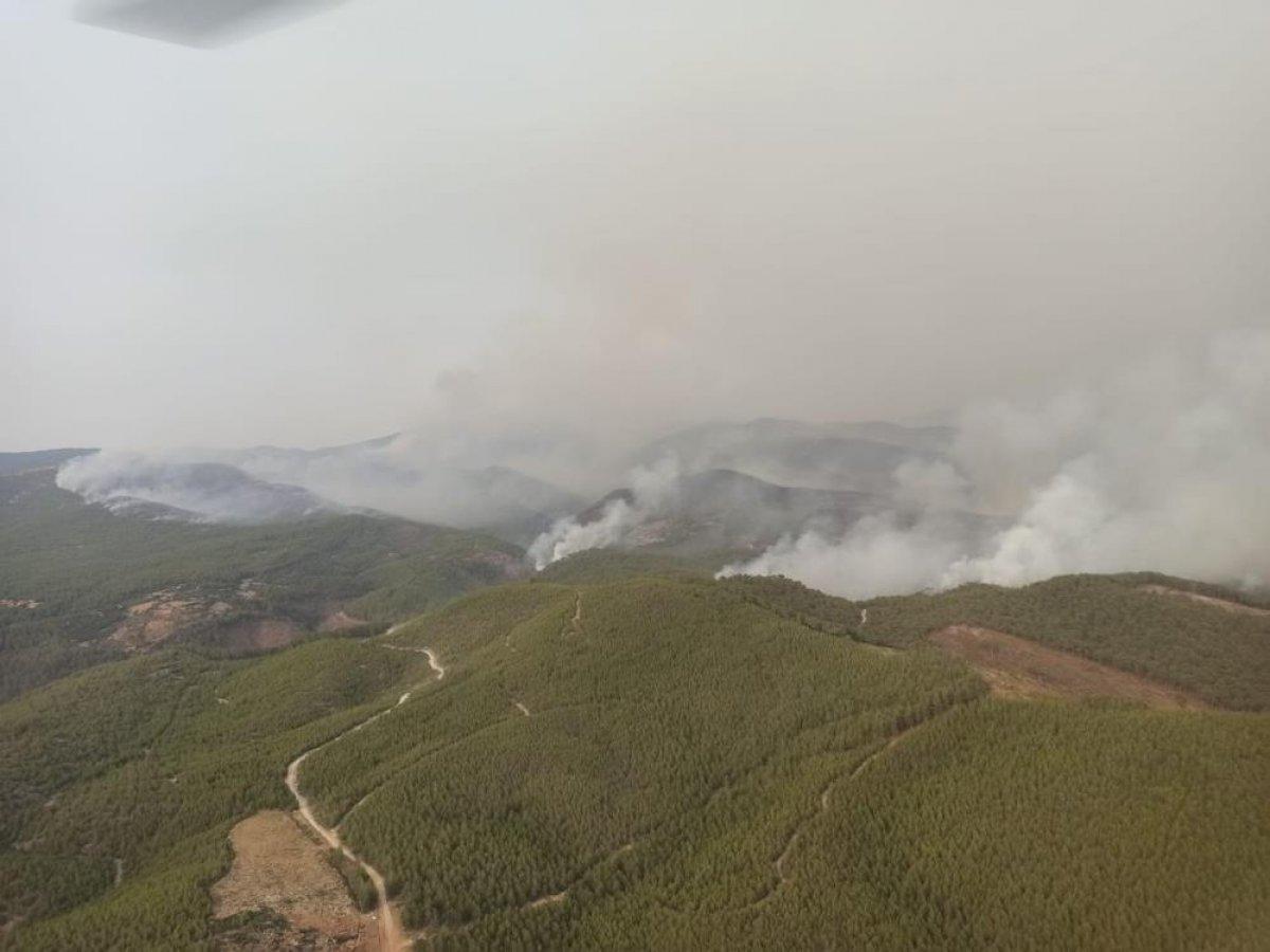 Yangın sonrası Muğla gökyüzünden böyle görüntülendi #2