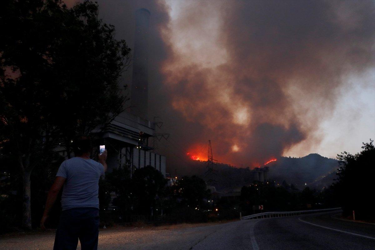 Milas taki termik santrale sıçrayan yangın söndü #2