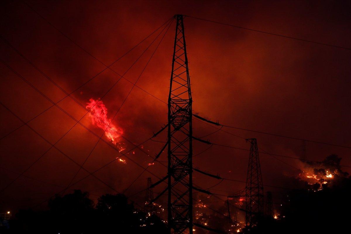 Milas taki termik santrale sıçrayan yangın söndü #1