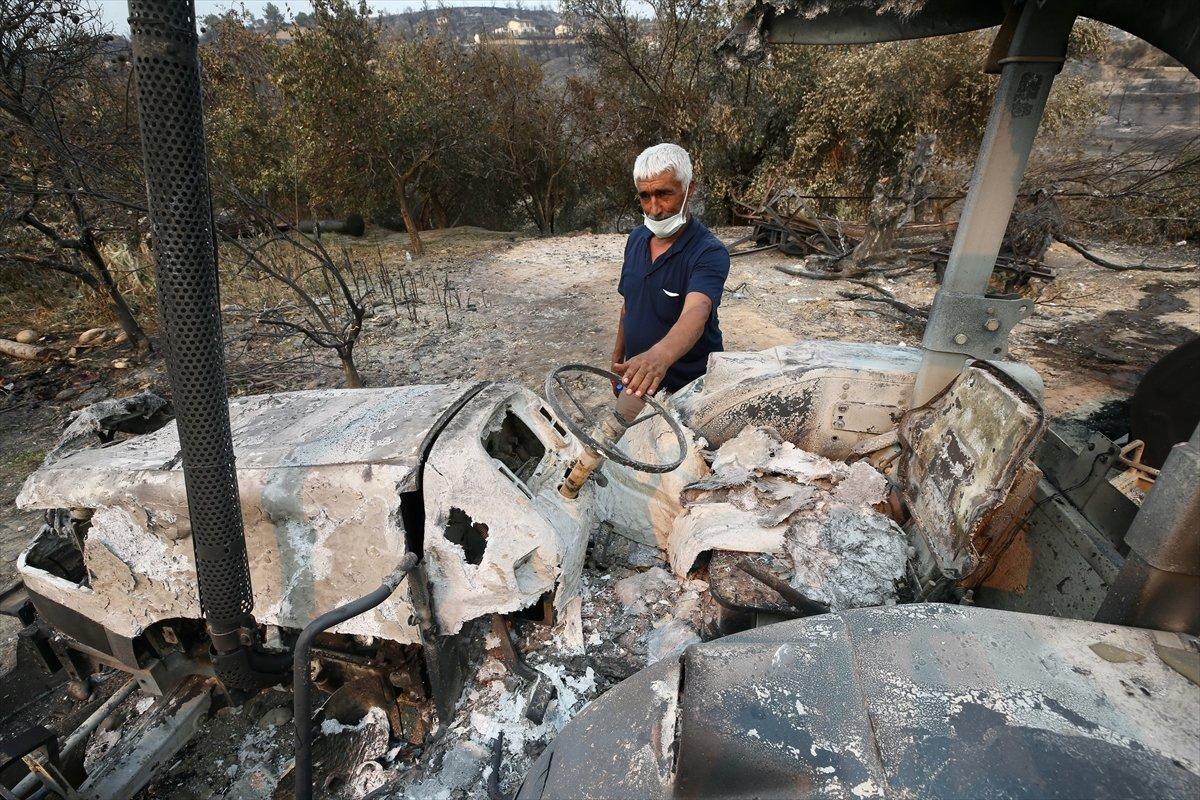 Manavgat ta traktörü yanan çiftçiye devlet desteği #1