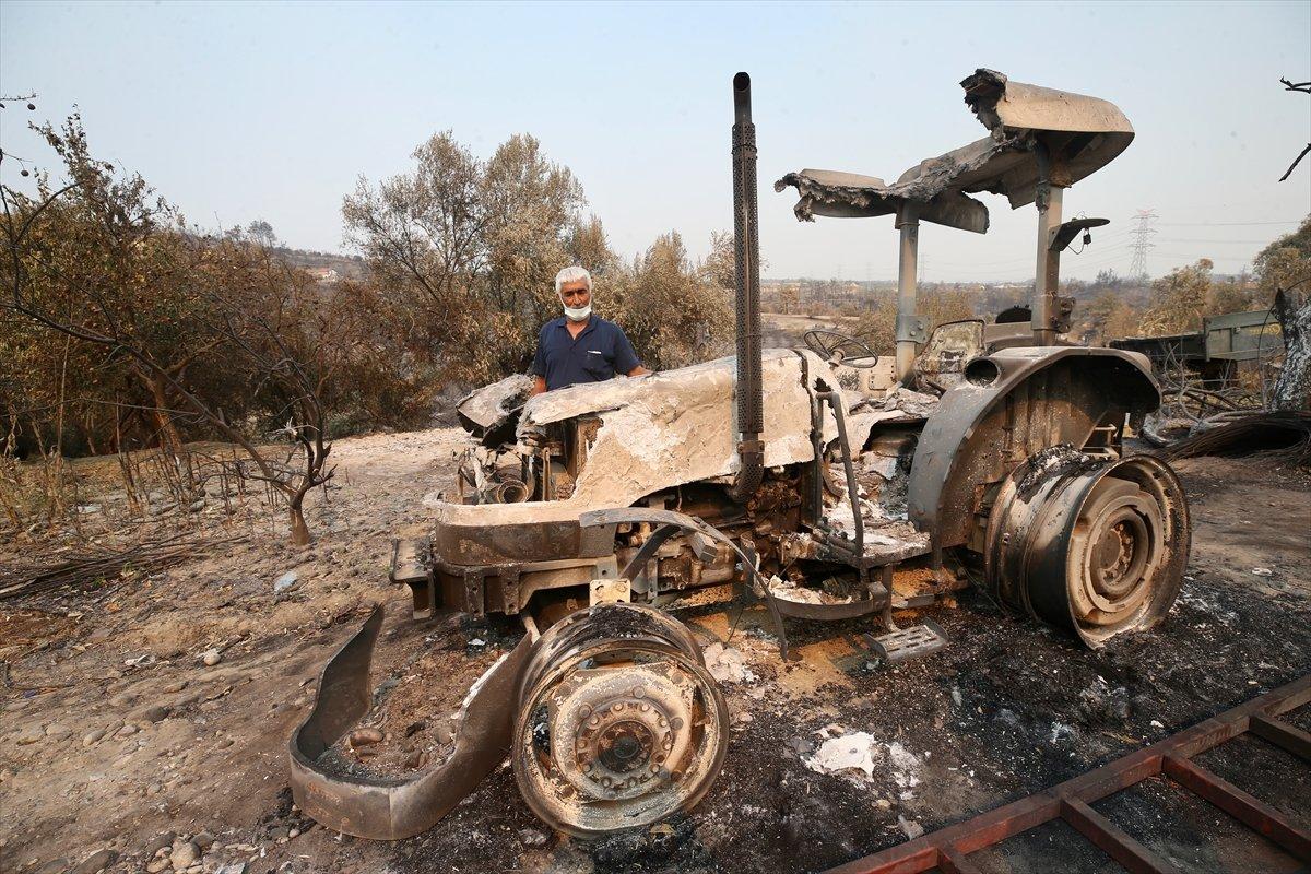 Manavgat ta traktörü yanan çiftçiye devlet desteği #4