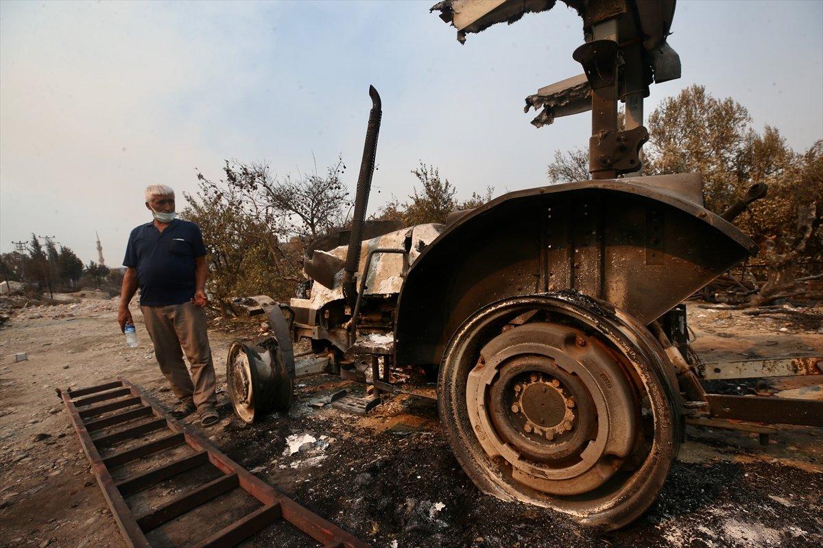 Manavgat ta traktörü yanan çiftçiye devlet desteği #5