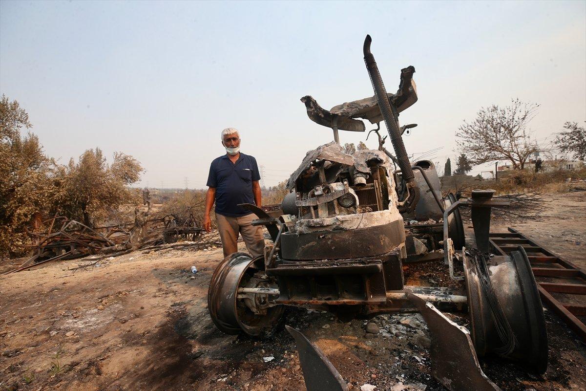 Manavgat ta traktörü yanan çiftçiye devlet desteği #3