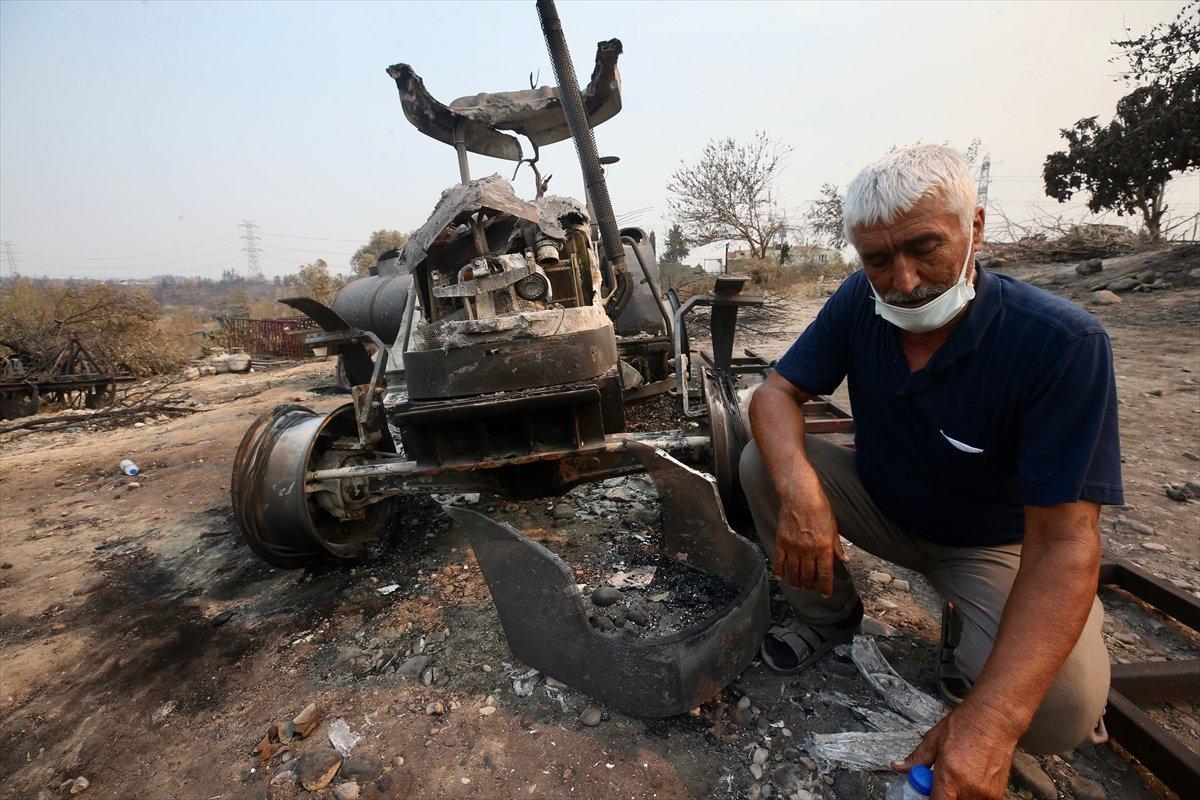 Manavgat ta traktörü yanan çiftçiye devlet desteği #2