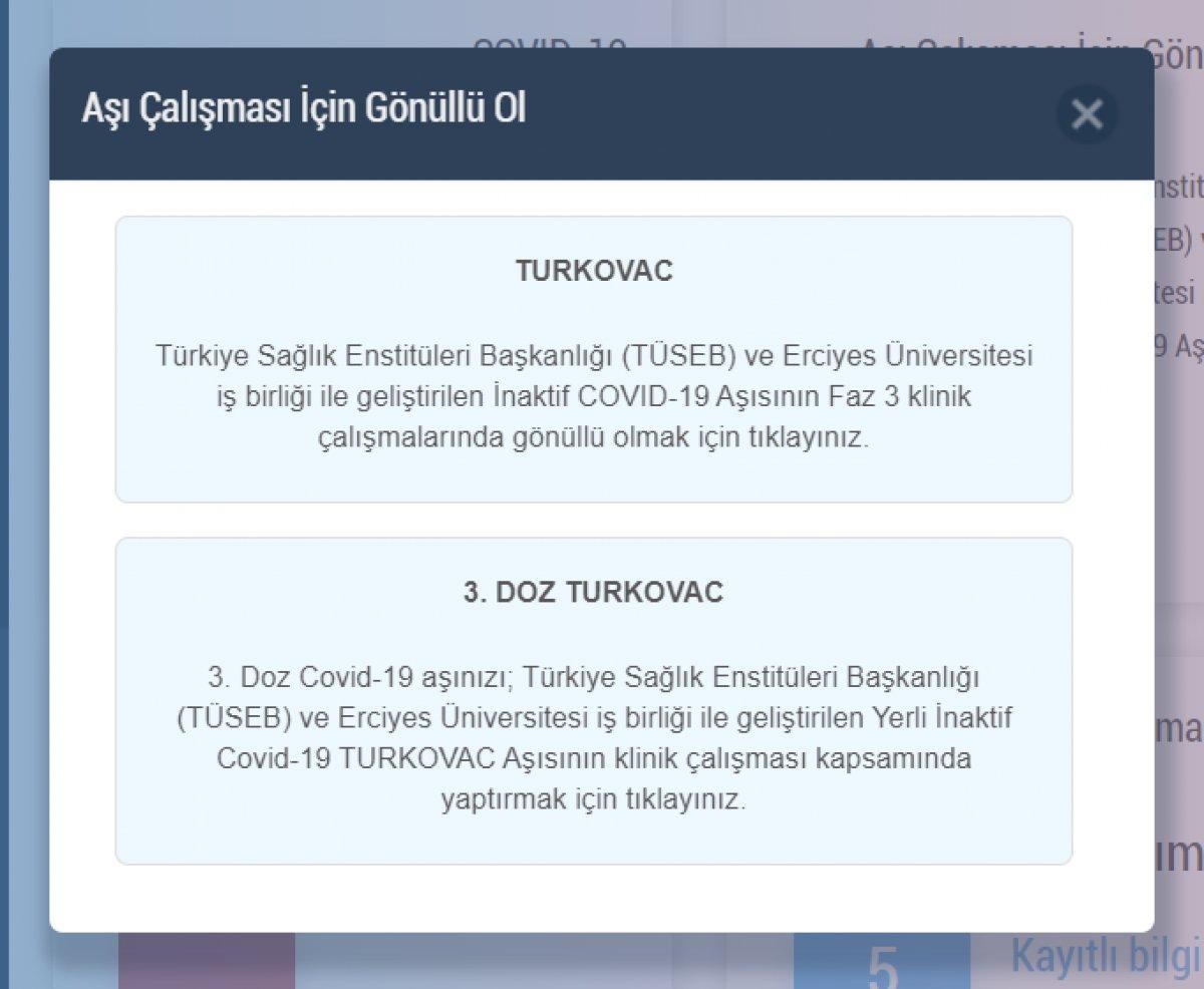 Turkovac randevu ekranı: Yerli aşı Turkovac gönüllüsü nasıl, nereden olunur? #2