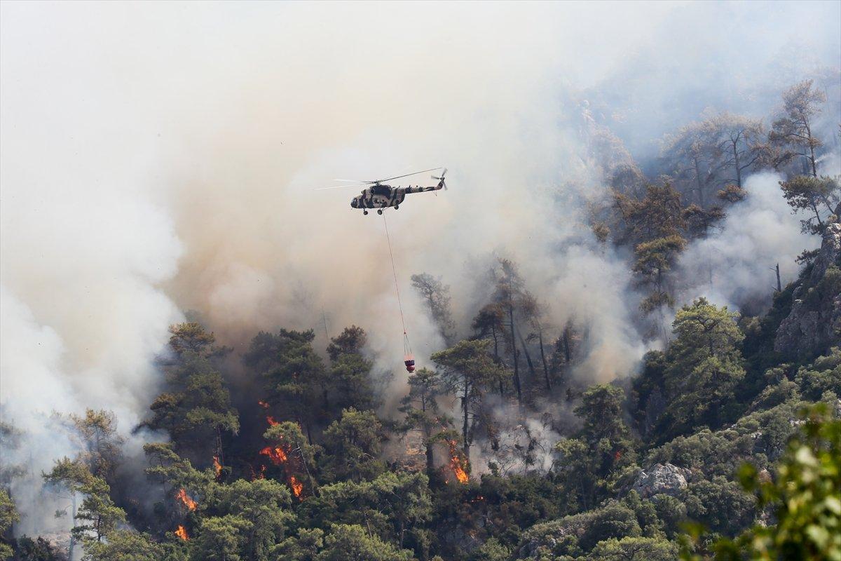 Orman yangınlarıyla mücadelede 9 uncu gün #2