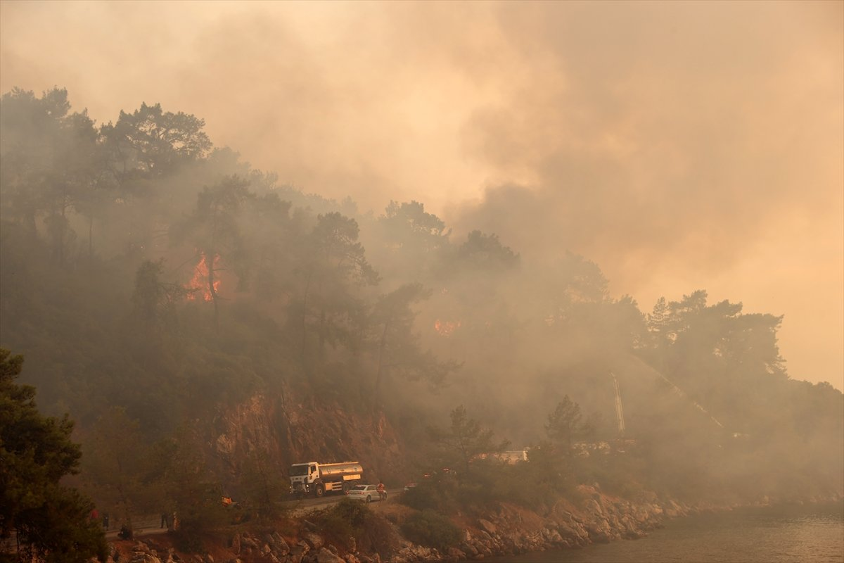 Orman yangınlarıyla mücadelede 9 uncu gün #5
