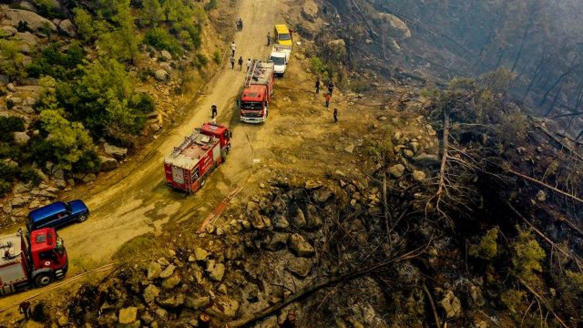 Manavgat ve Gündoğmuş yangınları kontrol altına alındı  #2