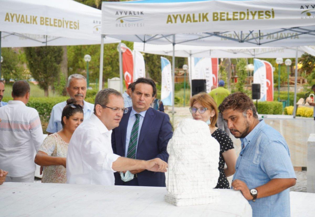 CHP li Ayvalık Belediyesi den heykel sempozyumu #2