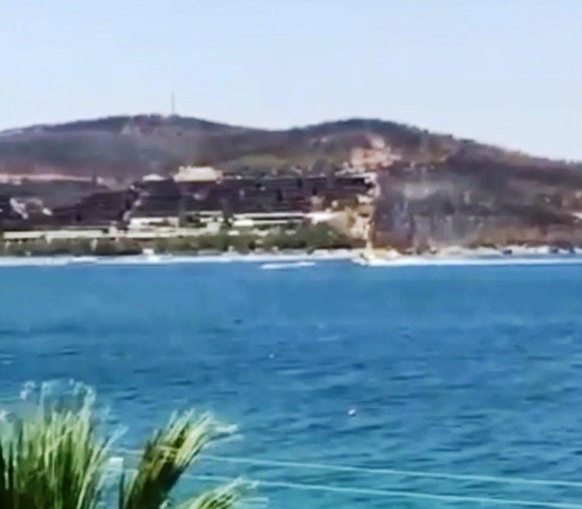 Bodrum da yangın söndürme uçağını engelleyen jet-ski hakkında soruşturma #1