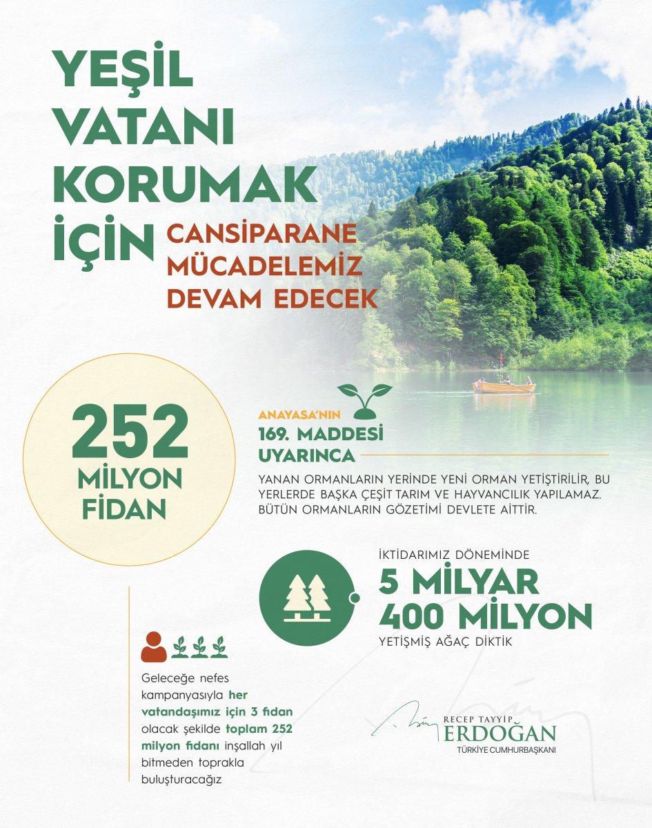 Cumhurbaşkanı Erdoğan: Her vatandaş için 3 fidan dikilecek #1
